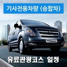승합차량 + 전용기사 (유료관광코스 기사님일정)
