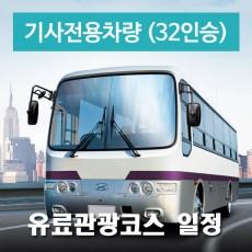32인승차량 + 전용기사(수고비포함) - 유료관광지 일정
